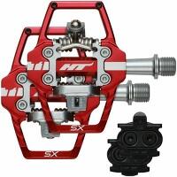 HT Components 91-9203R T1-Sx BMX Pedals Stealth Black 68X84x17mm Pair Cleat Incl